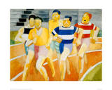 The Runners Giclee-trykk av Robert Delaunay