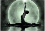 Moonlight Yoga Meditation Poster