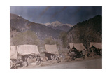 Men with Wagons Along Roadside; Scenery Is Valuable Asset in Kashmir Giclee Print by Franklin Price Knott