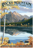 Long's Peak and Bear Lake - Rocky Mountain National Park Posters