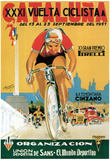Reklame for cykelløb, på italiensk Posters