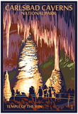 Carlsbad Caverns National Park, New Mexico - Temple of the Sun Posters