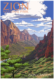 Zion National Park - Zion Canyon View Posters