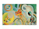 Study for Air, Iron, Water, 1936/1937 Giclée-tryk af Robert Delaunay