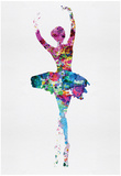 Ballerina Watercolor 1 Poster van Irina March