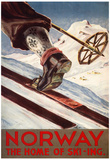 Noruega, lar do esqui Poster