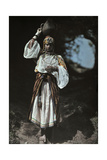 A Shy Woman Poses in Her Brilliant Kabyle Costume Photographic Print by Franklin Price Knott