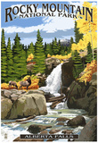 Alberta Falls - Rocky Mountain National Park Poster