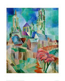 The Towers of Laon, 1912 Giclée-tryk af Robert Delaunay