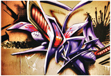 Amazing Abstract Graffiti Tag Plakater