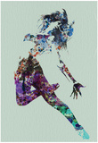 Dancer Watercolor Posters av  NaxArt