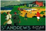St. Andrews Vintage Poster - Europe Photo