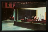 Nachtbrakers, Nighthawks, ca.1942 Foto van Edward Hopper