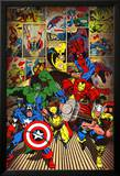 Marvel-Here Come the Heroes Poster