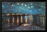 Starry Night over the Rhone, c.1888 Planscher av Vincent van Gogh