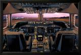 Boeing 747-400 Flight Deck Poster