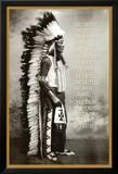 Chief White Cloud (Native American Wisdom) Art Poster Print Prints