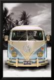 VW bus camper in Californië Posters