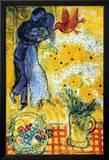 Die Verliebten Poster von Marc Chagall