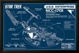 Star Trek Enterprise Blueprint Pósters