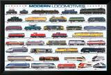 Modern Locomotives Kunstdruck