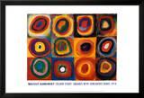 Étude de couleurs, vers 1913 Affiches par Wassily Kandinsky