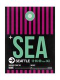 SEA Seattle Luggage Tag 2 Premium Giclée-tryk af  NaxArt