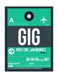 GIG Rio De Janeiro Luggage Tag 1 Pôsters por  NaxArt