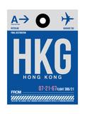 HKG Hog Kong Luggage Tag 1 Print by  NaxArt