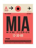 MIA Miami Luggage Tag 1 Plakater af  NaxArt