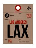 LAX Los Angeles Luggage Tag 1 Posters af  NaxArt