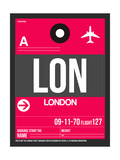 LON London Luggage Tag 2 Premium Giclée-tryk af  NaxArt