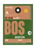 BOS Boston Luggage Tag 1 Prints by  NaxArt