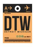 DTW Detroit Luggage Tag 1 Premium Giclée-tryk af  NaxArt