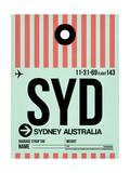 SYD Sydney Luggage Tag 1 Poster di  NaxArt