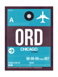 ORD Chicago Luggage Tag 1 Posters by  NaxArt