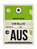 AUS Austin Luggage Tag 1 Plakater af  NaxArt