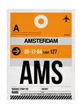 AMS Amsterdam Luggage Tag 2 Prints by  NaxArt