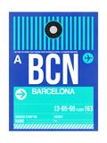 BCN Barcelona Luggage Tag 2 Prints by  NaxArt