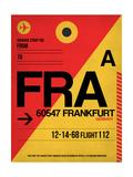 FRA Frankfurt Luggage Tag 2 Art by  NaxArt