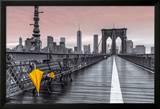 Brooklyn Bridge Umbrella Kunstdruck von Assaf Frank