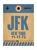 JFK New York Luggage Tag 2 Premium Giclée-tryk af  NaxArt