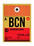 BCN Barcelona Luggage Tag 1 Poster af  NaxArt