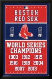 Boston Red Sox World Series Champions Poster