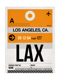 LAX Los Angeles Luggage Tag 2 Print by  NaxArt