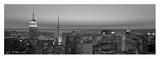 Midtown Manhattan at Sunset, Black and White Affischer av Richard Berenholtz