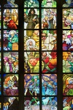 Stained Glass Windows of St. Vitus Cathedral Photo