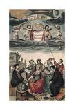 Frontispiece of 'Harmonia Macrocosmica' or 'Celestial Atlas' Juliste tekijänä Andreas Cellarius