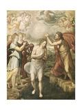 The Baptism of Christ Posters af Juan Fernandez Navarrete