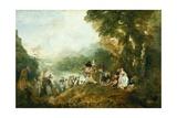 Embarkation for Cythera Plakat af Jean-Antoine Watteau